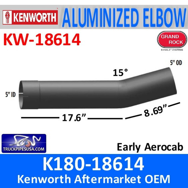 K180-18614 Kenworth Exhaust Elbow With ID and OD Ends
