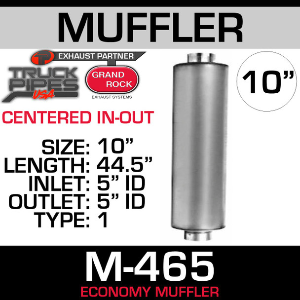 "M-465 Type 1 Muffler 10.1"" x 44.5"" 5"" Inlet-Outlet M100465"