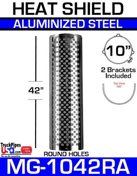 """10"""" x 42"""" 180 Degree Shield Round Holes Aluminum MG-1042RA"""