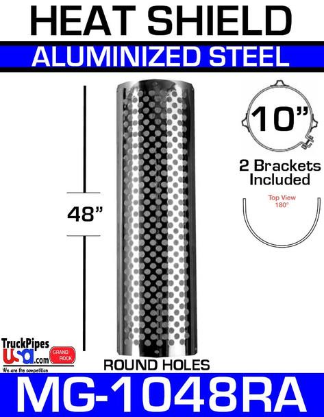 """10"""" x 48"""" 180 Degree Shield Round Holes Aluminum MG-1048RA"""