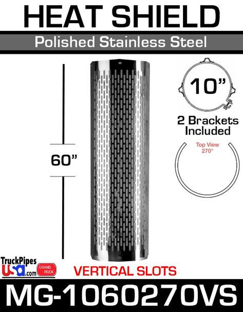"10"" x 60"" 270 Degree Vertical Slot Polished SS MG-1060270VS"