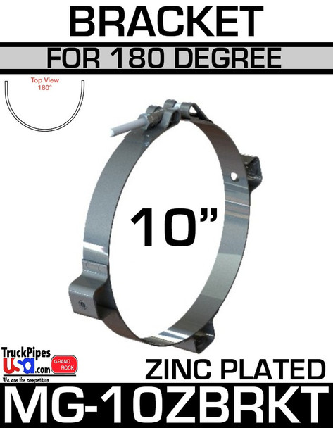 "10"" Zinc Plated Bracket for 180 Degree Guard MG-10ZBRKT"