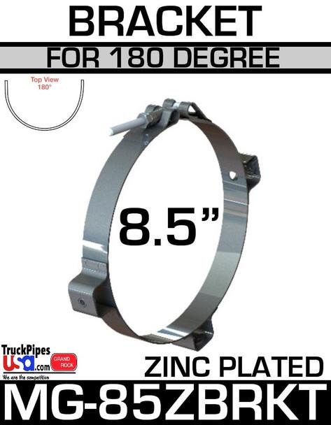 "8.5"" Zinc Plated Bracket for 180 Degree Guard MG-85ZBRKT"