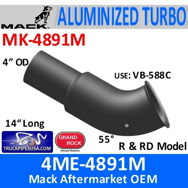 4ME-4891M Mack DM & R & RD Model Turbo Exhaust MK-4891M