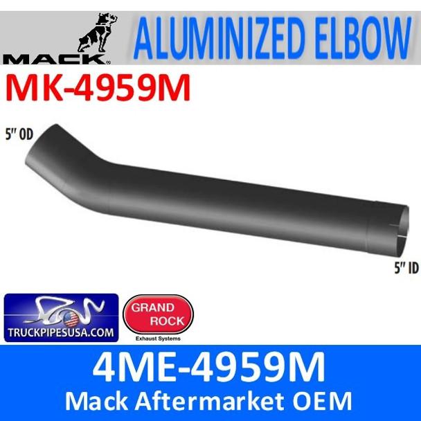 "4ME-4959M Mack 5"" Exhaust Elbow Pipe MK-4959M"