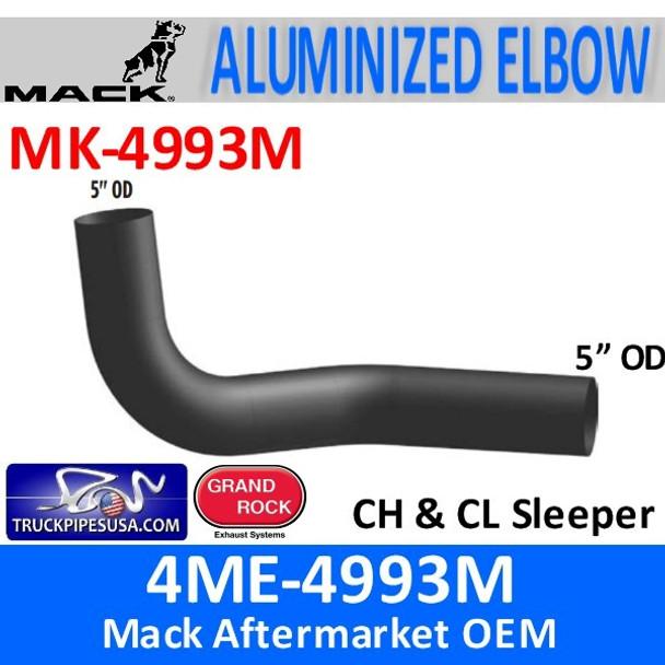 4ME-4993M Mack CH & CL Sleeper Exhaust Elbow MK-4993M