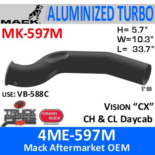 4ME-597M Mack Vision/CH Turbo Exhaust Pipe MK-597M