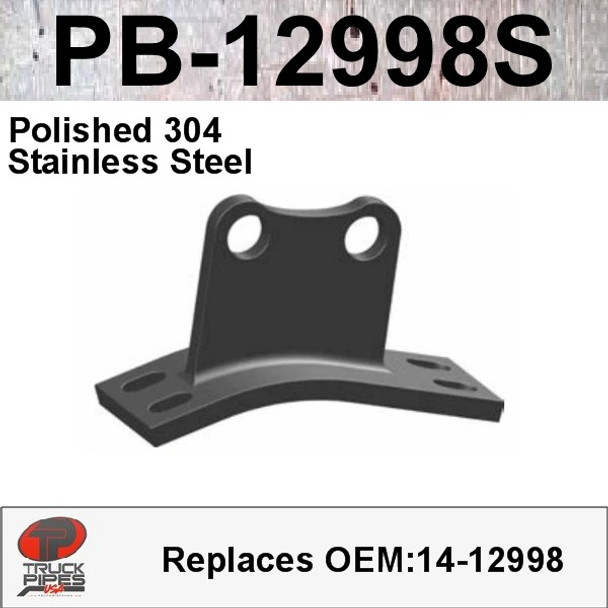 14-12998 Peterbilt Polished 304 Stainless Steel Cab Bracket (PB-12998S)