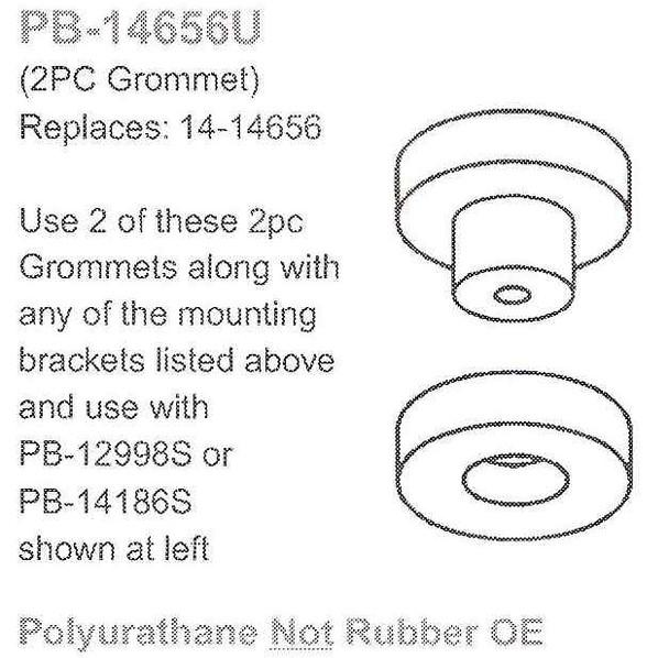 PB-14656U 14-14656 Peterbilt Exhaust Cab Bracket Grommet PB-14656U