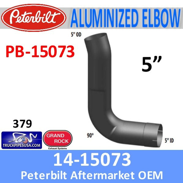 14-15073 Peterbilt 379 Exhaust 90 Degree Aluminized Elbow PB-15073