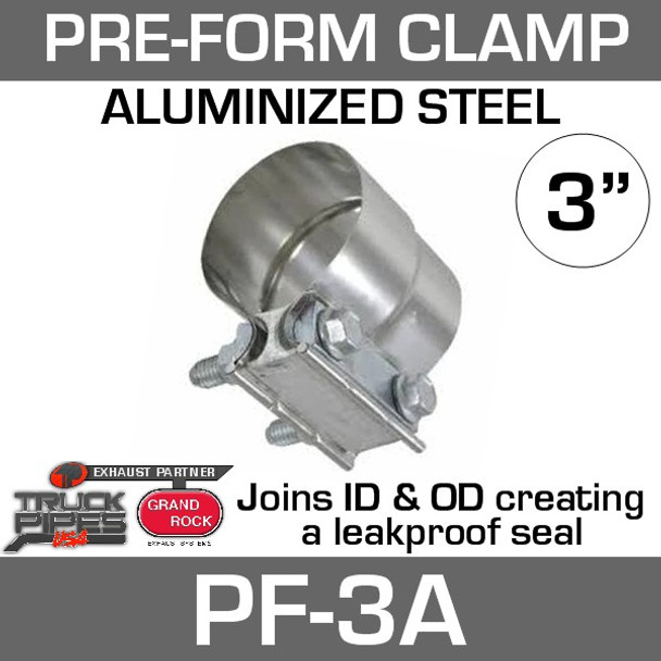 """3"""" Preformed Aluminized Exhaust Seal Clamp PF-3A"""