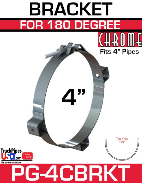 "4"" Chrome Heat Shield Bracket PG-4CBRKT"