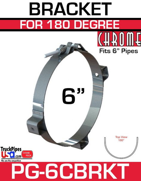 "6"" Chrome Heat Shield Bracket PG-6CBRKT"