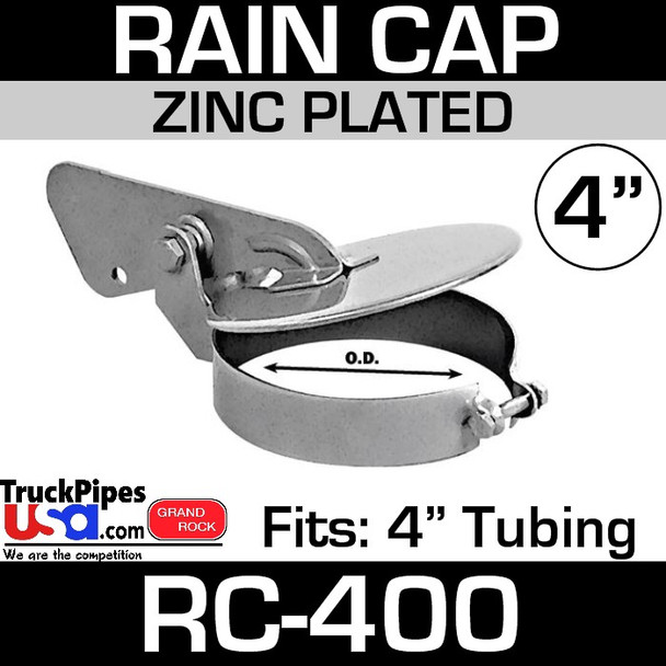 4 inch Zinc Plated Exhaust Rain Cap RC-400
