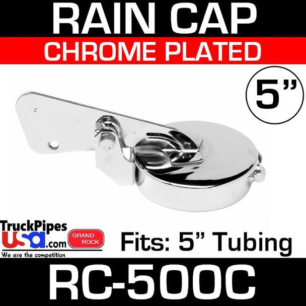 5 inch Chrome Plated Exhaust Rain Cap RC-500C