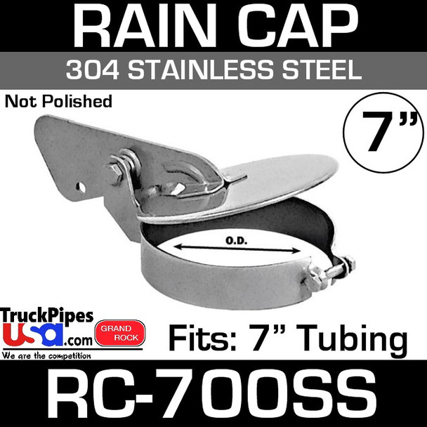 """7"""" Stainless Steel Exhaust Rain Cap RC-700SS"""