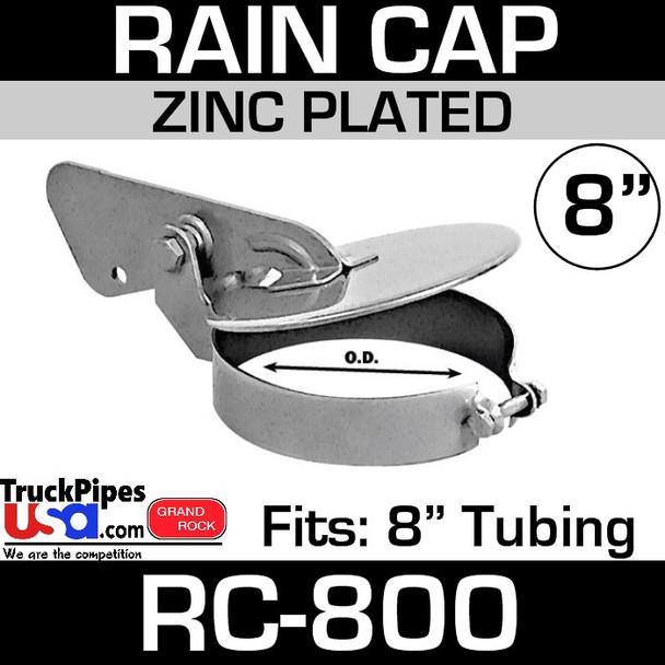 8 inch Zinc Plated Exhaust Rain Cap RC-800