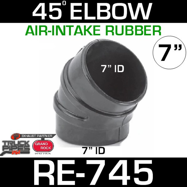 """7"""" Air Intake Rubber 45 Degree Elbow RE-745"""
