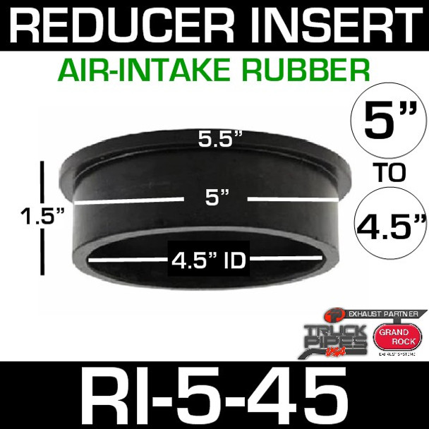 "5"" x 4.5"" Air-Intake Rubber Exhaust Reducer Insert RI-5-45"