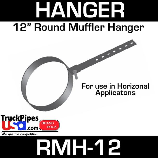 """12"""" Round Muffler Hanger RMH-12"""