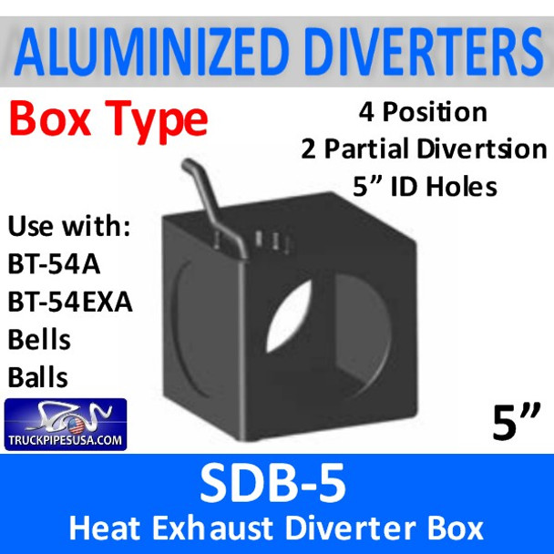 """5"""" Exhaust Heat Diverter Box with 4 positions SDB-5"""