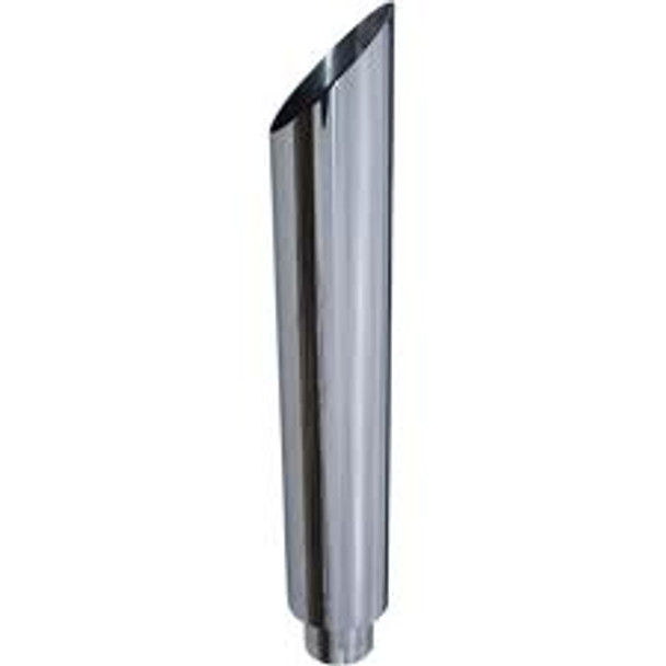 "6"" x 72"" Miter Cut Chrome Exhaust Stack Reduced to 5"" ID"
