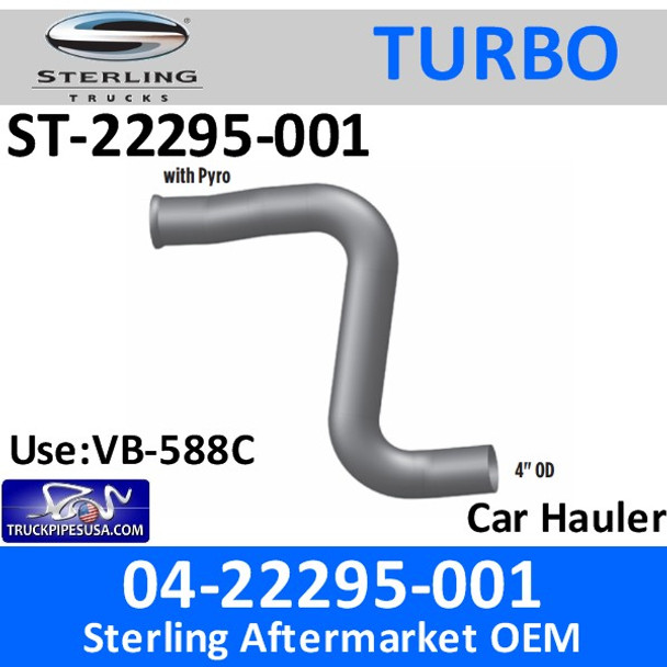 04-22295-001 Sterling Car Hauler Turbo Pyro Pipe ST-22295-001