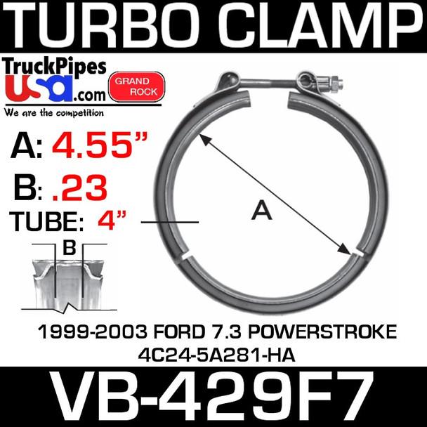 1999-2003 Ford 4C24-5A281-HA V-Band Turbo Clamp VB-429F7