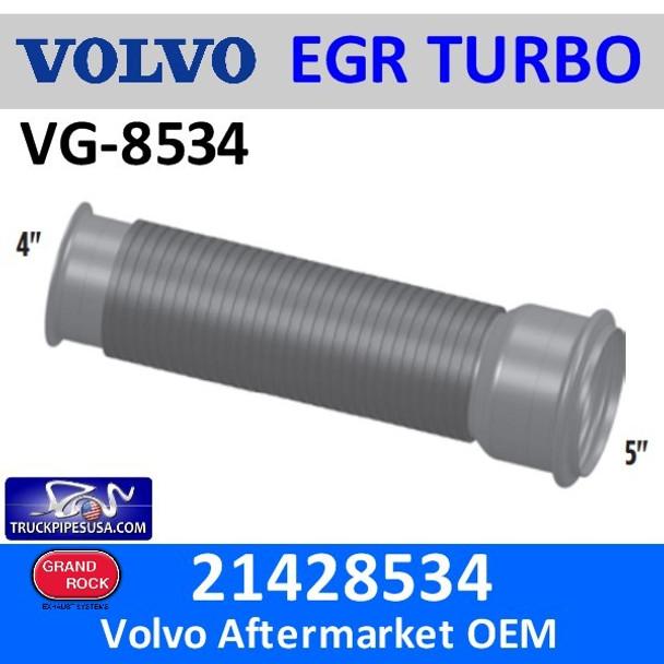 "21428534 Volvo & Mack EGR Bellows Flex 17.5"" Long VG-8534"