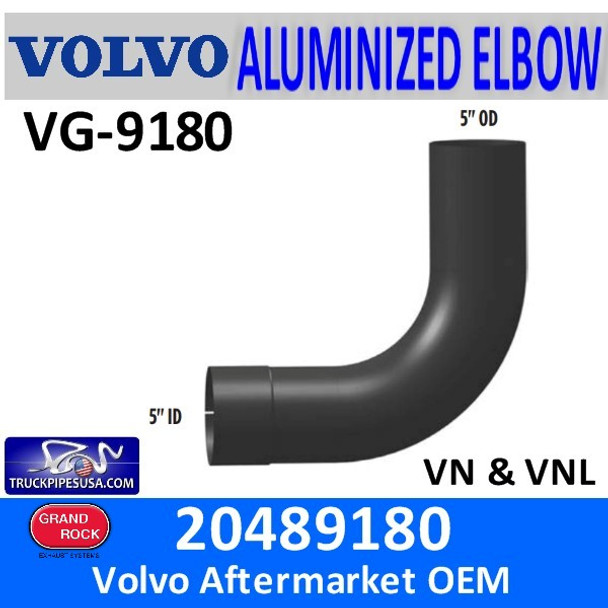 VG-9180 20489180 Volvo 90 degree Exhaust Elbow 8080889 or 8076778