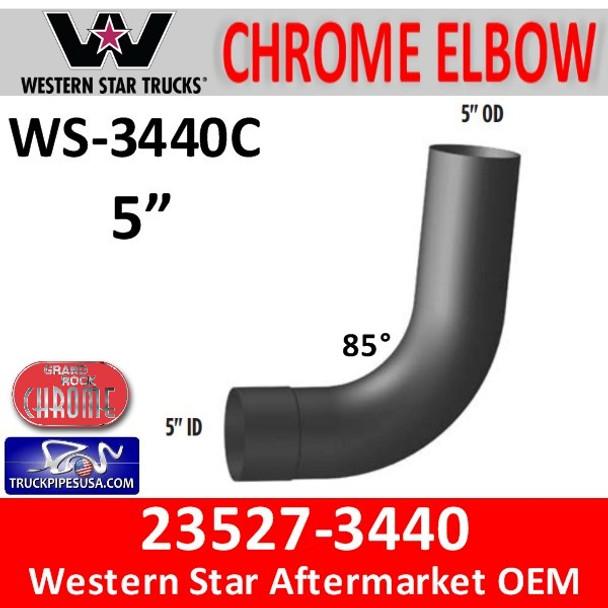 Western Star 23527-3440 Chrome Elbow