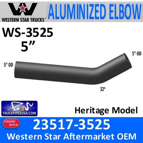 23517-3525 Western Star 32 Degree Aluminized Exhaust Elbow