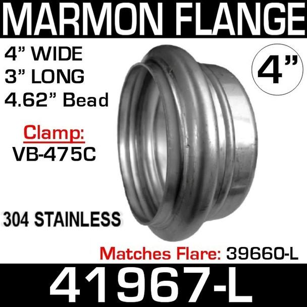 "4"" Marmon Flange 4.62"" Bead in 304 Stainless Steel 41967-L CAT 9N-6325"