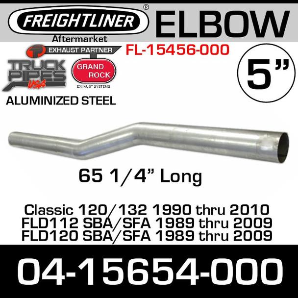 "04-15654-000 Freightliner Exhaust Pipe 5"" x 66"" FL-15654-0"