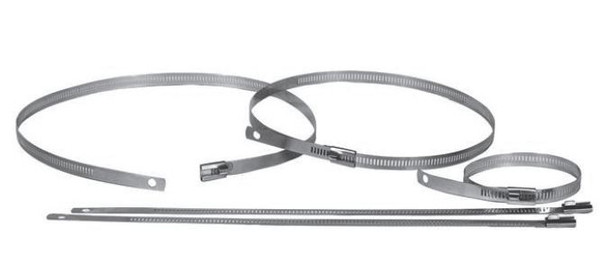 """HC-18SS Heat Wrap Clamps 18"""" Stainless Steel 2 pieces HC-18SS"""