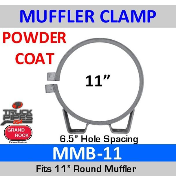 """MMB-11 11"""" Universal Muffler Exhaust Clamp Powder Coat MMB-11"""