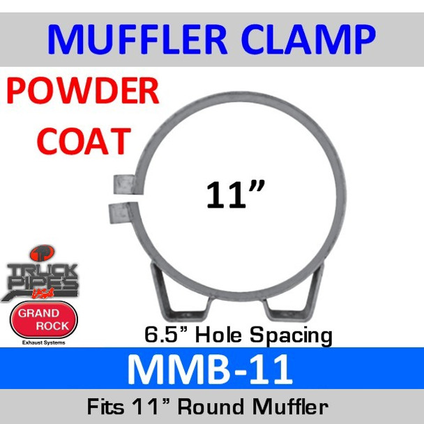"MMB-11 11"" Universal Muffler Exhaust Clamp Powder Coat MMB-11"