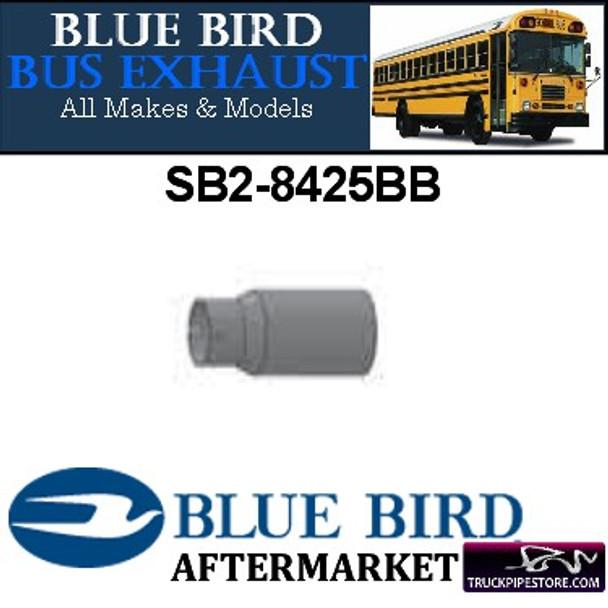 "SB2-8425BB Bluebird Pipe Reducer 4"" OD to 3"" ID - 13"" Long Aluminized"