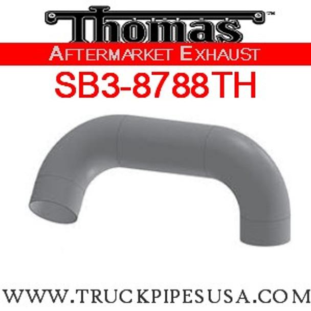 "6224-0610 4"" Thomas Bus Exhaust 2 Bend Pipe OD-OD ALZ"