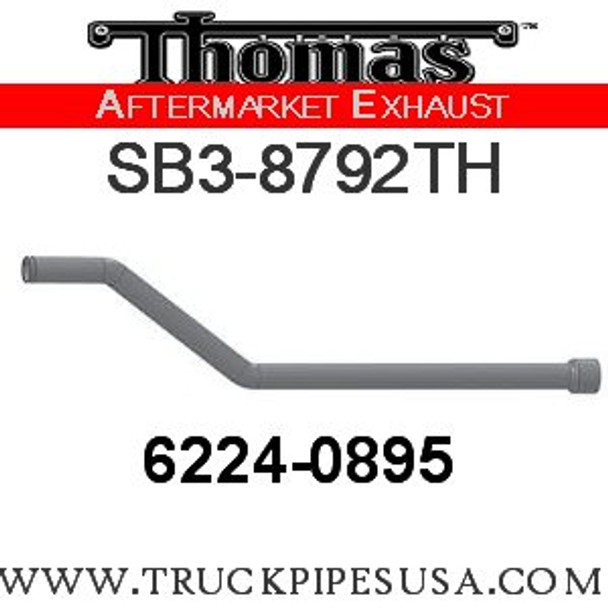 """6224-0895 or 6224-0727 3"""" Thomas Exhaust Pipe 4""""OD Flange ALZ"""