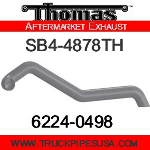 """6224-0498 4"""" Thomas Bus Exhaust 3 Bend Pipe ID-OD ALZ"""