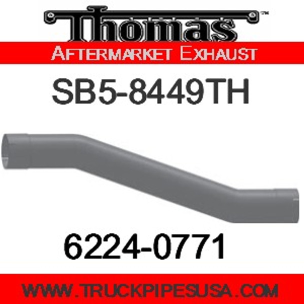"""6224-0464 4"""" Thomas Bus Exhaust 4 Bend Pipe OD-ID ALZ"""