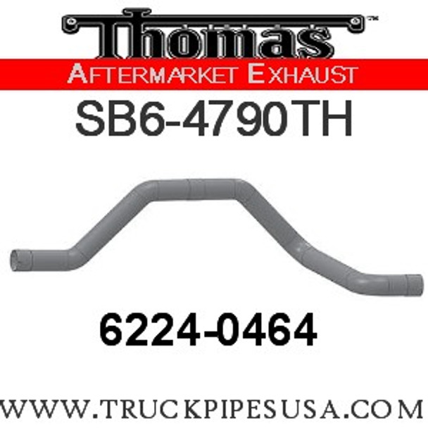 "6224-0464 4"" Thomas Bus Exhaust 5 Bend Pipe ID-ID ALZ"