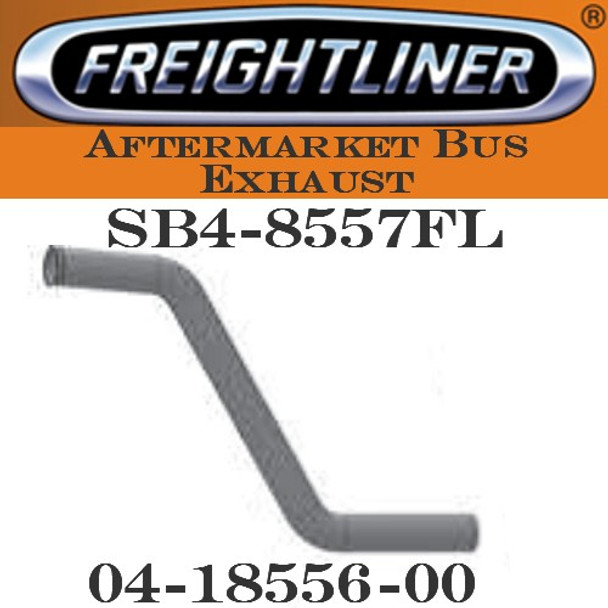 "04-18556-000  3"" Freightliner Bus Exhaust 2 Bend OD/FLARE ALZ"