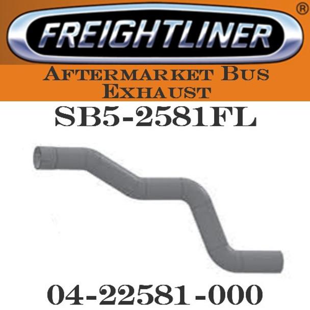 "SB5-2581FL 04-22581-000  4"" Freightliner Bus Exhaust 4 Bend ID-OD ALZ"