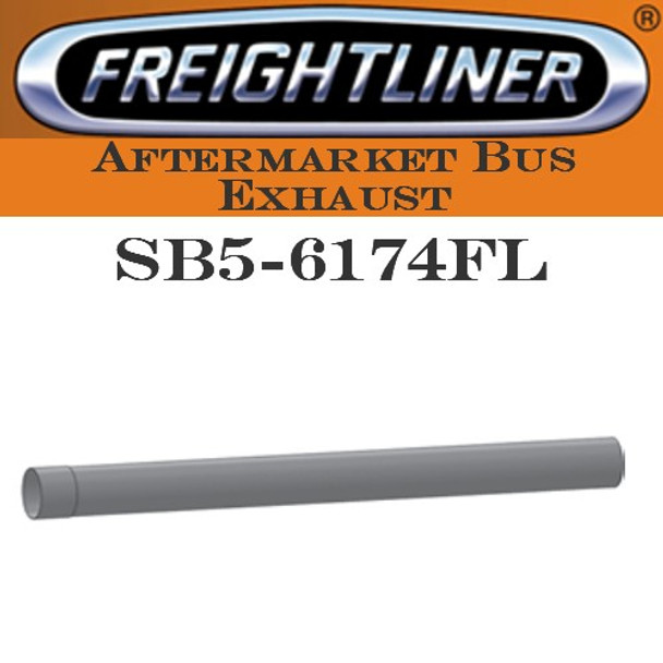 "SB5-6174FL 4"" x 50"" Freightliner Bus Straight Stack Pipe ID-OD ALZ"