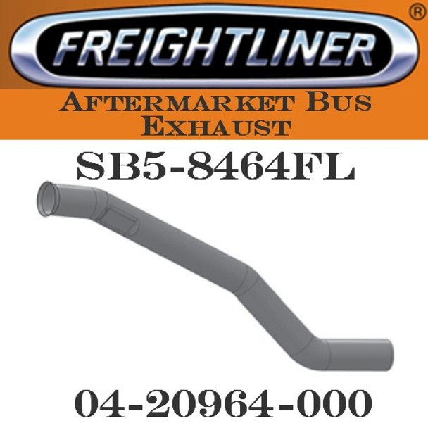 "04-20964-000  4"" Freightliner Bus Exhaust 3 Bend OD/FLARE FLAT ALZ"