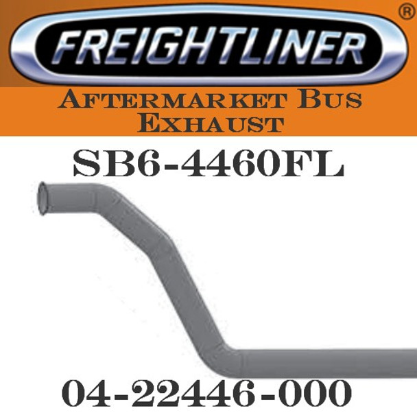 "04-22446-000  4"" Freightliner Bus Exhaust 3 Bend OD/FLARE ALZ"