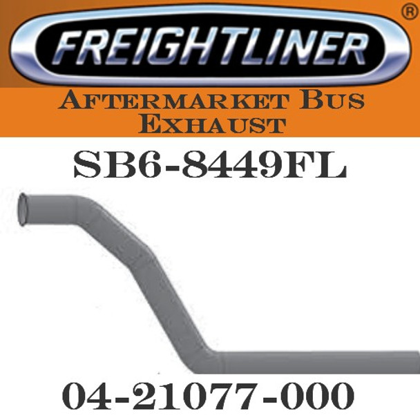 "04-21077 -000  4"" Freightliner Bus Exhaust 3 Bend OD/FLARE ALZ"