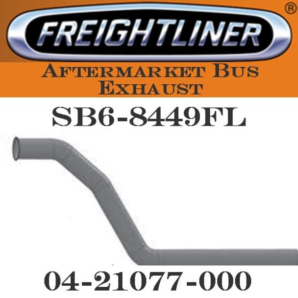 "04-21077 -000  4"" Freightliner Bus Exhaust 3 Bend OD/FLARE ALZ"